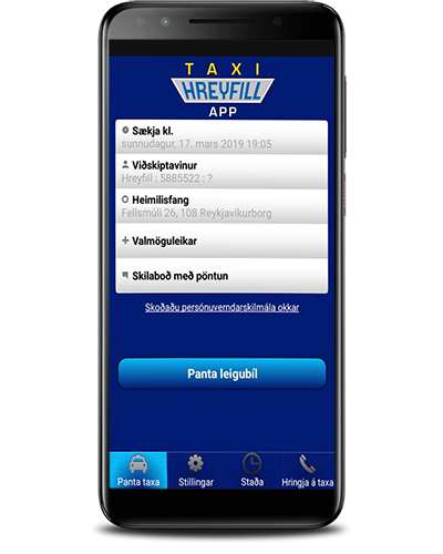 Download the Hreyfill Mobile app. The app is free and there are no booking fees.